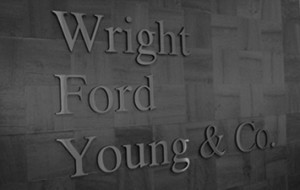 Wright Ford Young lettering on the wall