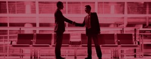 2 Business Men - shaking hands